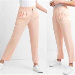 NEW GAP Pleated Pink Drapey Trouser sz 14